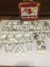 Williams Sonoma ABC Alphabet Metal Cookie Cutter Set + Metal Lunch Box