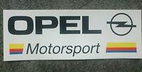 Aufkleber Opel Motorsport.