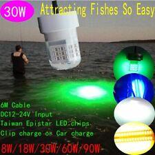 12VDC IP68 30W LED Underwater Fishing Lights Fishing Lure Bait Light LED Boat