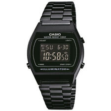 Casio Classic Digital Wrist Watch, Black, Stainless Steel Band, B640WB-1BEF