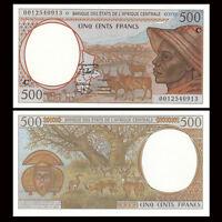 Central African, Congo 500 Francs Banknote, 2000, P-101Cg, C, UNC, Original