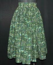 "Vintage 1950s Ladies FULL CIRCLE Cotton Skirt 22ins"" Waist Rockabilly"