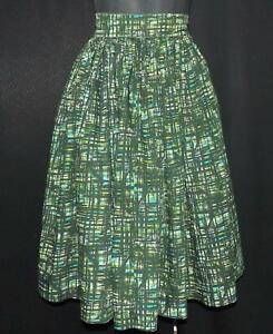 "Vintage 1950s Ladies FULL CIRCLE Cotton Skirt 22ins"" Waist Rockabilly"