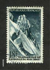 FRENCH POSTAGE -  1956 TELEPHERIQUE DE L'AIGUILLE DU MIDI 18F POSTES FRANCE