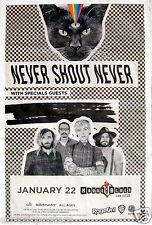 NEVER SHOUT NEVER 2016 SAN DIEGO CONCERT TOUR POSTER - Indie / Alternative Rock