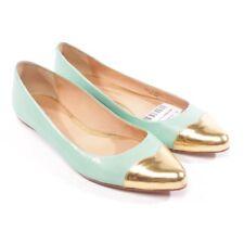 REBECCA MINKOFF Ballerinas Gr. D 38 US 8 Blau Gold Damen Schuhe Shoes Flats