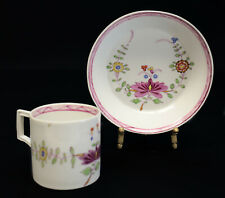 Meissen Marcolini Germany Hand Painted Porcelain Cup & Saucer in Red Onion
