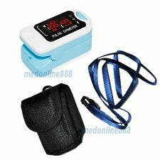 With Case Finger Pulse Oximeter LED SpO2 Blood Oxygen PR Heart Rate Oxymeter CE