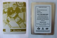 2017-18 UD Team Canada #71 Belfour Ed 1/1 yellow plate print plate 1 of 1