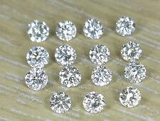0.13cts 15pc Natural Loose Brilliant Cut Diamond I-J Color SI Clarity Nontreated