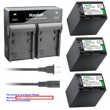 Kastar Battery Rapid Charger for Sony NP-FV100 & Sony DCR-SX15 DCR-SX20 DCR-SX21