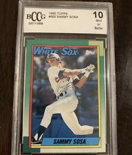 1990 Topps Sammy Sosa Rookie #692 - BCCG 10 - Chicago White Sox