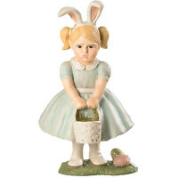Bethany Lowe Easter Egg Hunt Pouting Girl Bunny Spring Retro Vntg Decor Figurine