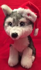 "Barbie Christmas Santa Hat Holiday Husky Dog Plush 2011 ~12"" Mattel Pre Owned"