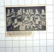 1959 Victorious Pirates Team Beat Redruth, Jersey Harold Stevens