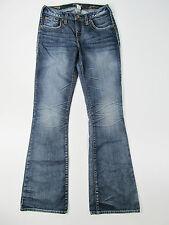 Silver Jeans Suki Flare Trousers Hose Denim Jeans Pantalone Blau Neu 28