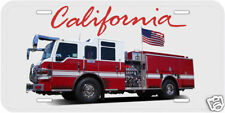 Fire Truck California Novelty Car Tag License Plate