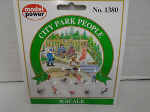 MODEL POWER #1380 N SCALE CITY PARK PEOPLE NEW IN PACKAGE