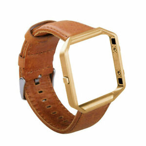 Fitbit Blaze Accessory replacement Leather Wrist Band & Frame