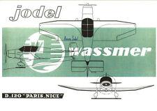 Reproduction publicité vintage JODEL D120 WASSMER Paris-Nice