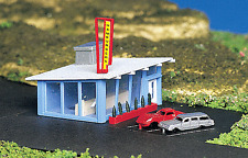 Bachmann N Scale Drive-In Hamburger Stand (Assembled) #45709