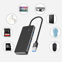 Ultra Slim 3-Port USB-A Hub USB 3.0 Hub Adapter Extra DC Power Cable for Laptop