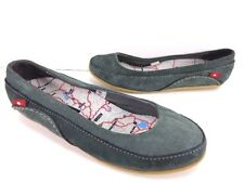 Women's Oliberte Mbozi Leather Flats Grey Nubuck Size EU 37 US 7 M