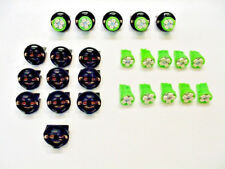 "15 Green 4 LEDs Lights Bulbs 1/2"" Sockets Marker License Plate Dash Chevy 194"