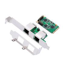 Mini PCIe to Dual Gigabit Network Card Mini PCI Express to 1Gbps RJ-45 Port  Lan