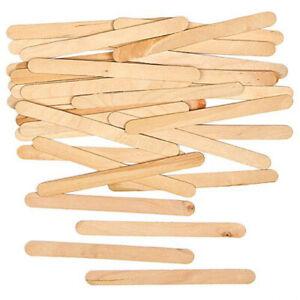 Lollipop Sticks Natural Craft Wooden Lolly Sticks, Model-Making etc, 10 to 1000