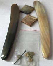 2 Ox Horn Straight Razor Scales Handles With Hardware For Dovo Puma Solingen Etc