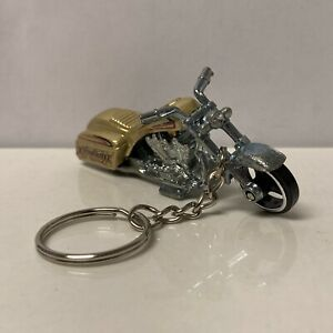 RARE KEY CHAIN GOLD CRUISER MOTORCYCLE CUSTOM LIMITED EDITION