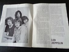 LED ZEPPELIN ETC BATH FESTIVAL OF BLUES 1969 PROGRAMME