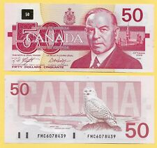 Canada 50 Dollars p-98d 1988 Sign. Knight & Dodge UNC Banknote