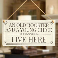 Old Rooster and a Young Chick Live Here Retirement Gifts for Men Grandad Present