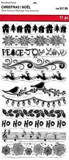Recollections Clear Stamps - Christmas Borders - Ho Ho Ho, Lights, Reindeer, Joy