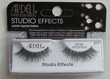 (LOT OF 3) Ardell Studio Effects DEMI WISPIES Authentic Ardell Eyelashes Black