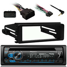 DEH-S4100BT Bluetooth USB Radio, Harley 99-9600 Install FLHX Touring Din Kit