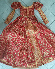 RARITÄT Burgdame Mittelalterkleid Schloßfestkleid Kleid Italienische Renaissance