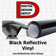 "Black Reflective Vinyl reflective tape Sign Reflectivity 24"" x 1 FT"