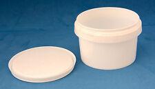 100 x 280ml PLASTICA BIANCHE prova di manomissione vasche/contenitori con coperchi