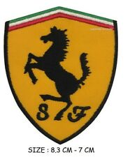 Ferrari Embroidered Badge Iron On Sew On Clothe Jacket Jeans Sports