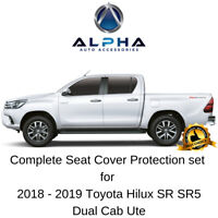 Neoprene Complete Seat Covers Set for 2018-19 Toyota Hilux SR SR5 Dual Cab Ute
