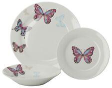 Sabichi 12 Piece Mariposa Dinner Set - Porcelain - Purple