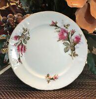 "Vintage Mid Century Royal Rose Fine China Of Japan Dinner Plate 7 1/2"" Lot of 4"