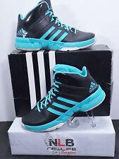 Adidas Cross 'Em 3 Black/Vivid Mint/White Sportstyle Men's Size 7 C75552