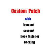 Custom Design Embroidered Patches Personalized Logo Badges Transfers Name Tags