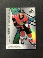 2019-20 SP GAME USED VITALY ABRAMOV AUTHENTIC ROOKIE #ed 193/298