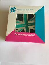 Juegos Olímpicos de Londres 2012 Dartington Cristal bloque De Vidrio paperwight raras oficial