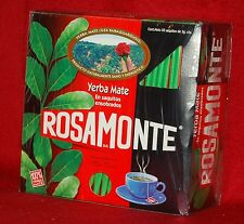 YERBA MATE TEA BAGS - ROSAMONTE - 50 TEA BAGS - INDIVIDUALLY WRAPPED